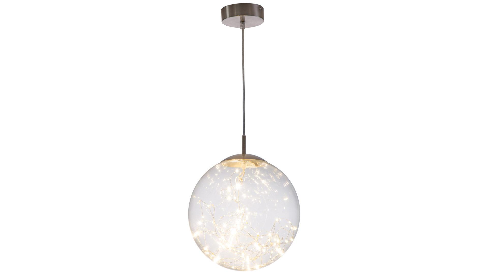 Möbel Bohn Crailsheim, Räume, Esszimmer, Lampen + Leuchten, LED Pendelleuchte,  LED Pendelleuchte Lights, Nickel U0026 Klarglas U2013 Durchmesser Ca. 30 Cm