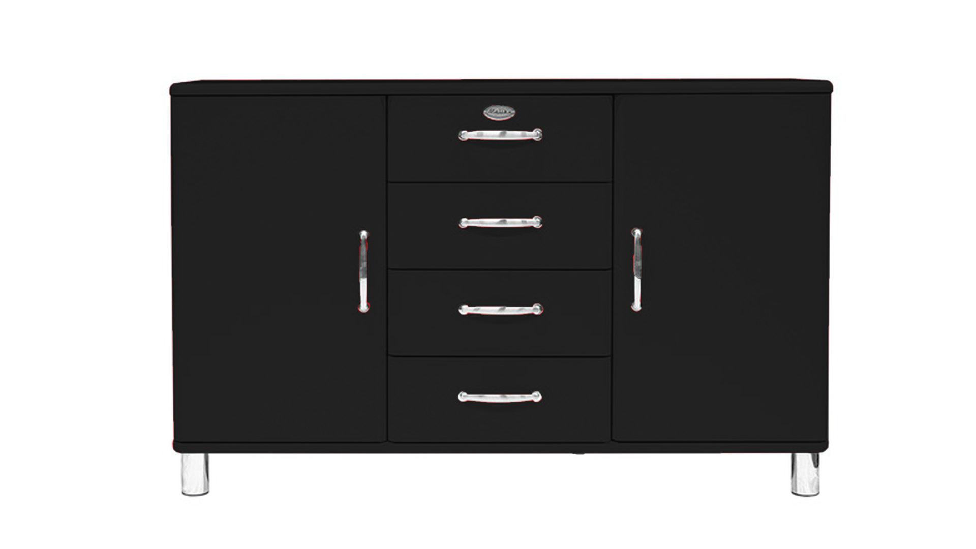 Möbel Bohn Crailsheim, Räume, Esszimmer, Kommoden + Sideboards, Sideboard,  Sideboard, Schwarze Lackoberflächen   Vier Schubladen, Zwei Türen