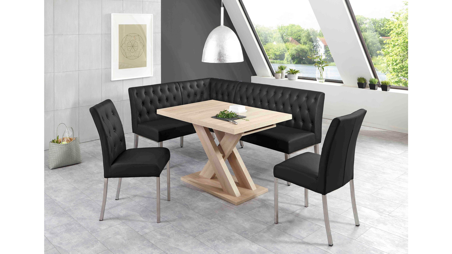 eckbank esszimmer schwarz, möbel bohn crailsheim, räume, esszimmer, stühle + bänke, moderne, Design ideen