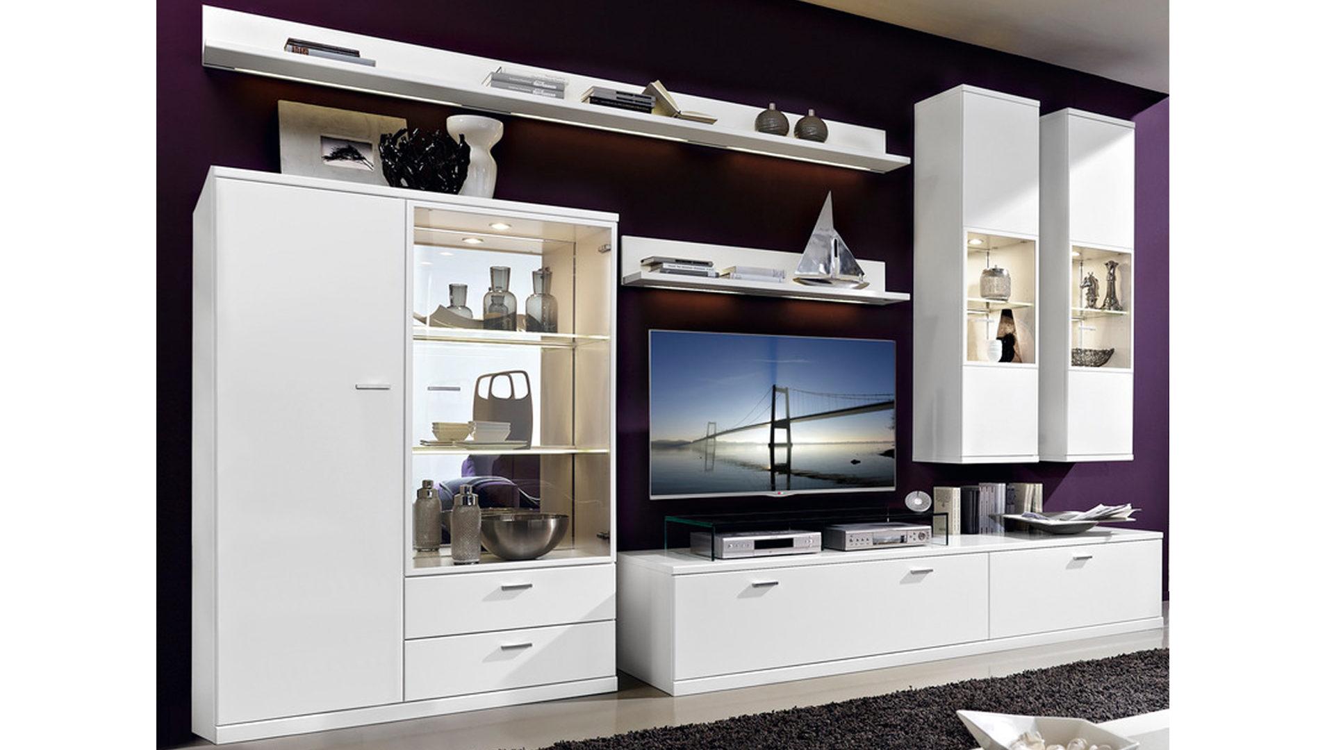 Wohnwand Weie Holz ~ Denken weiße hochglanz wohnwand wohnzimmer minimalistisch