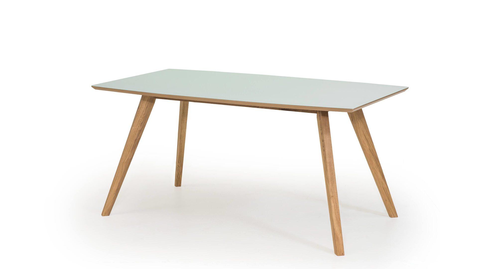 mobel bohn crailsheim raume esszimmer tische esstisch esstisch mit glasauflage mattweisses glas eichenholz ca 180 x 90 cm
