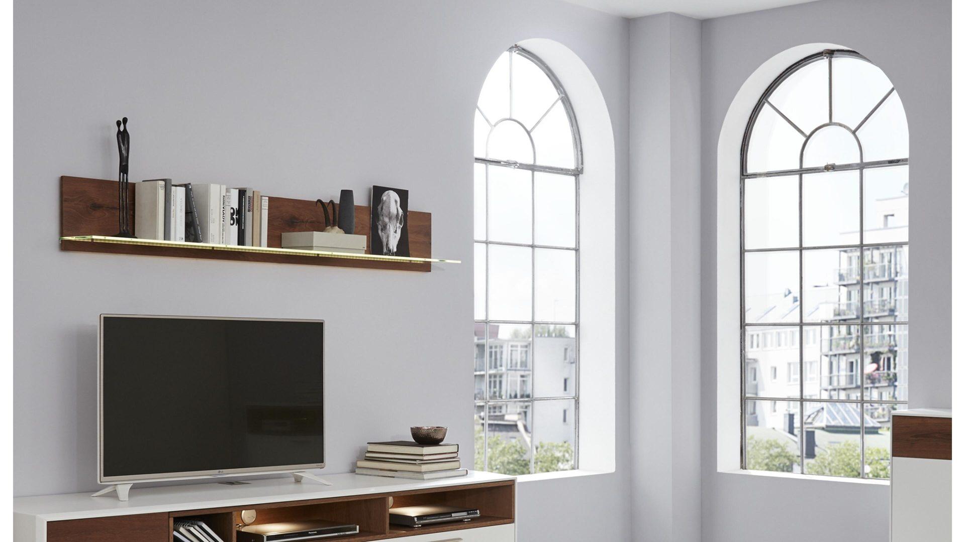 mobel bohn crailsheim startseite interliving interliving wohnzimmer serie 2102 wandregal dunkles asteiche furnier lange ca 176 cm