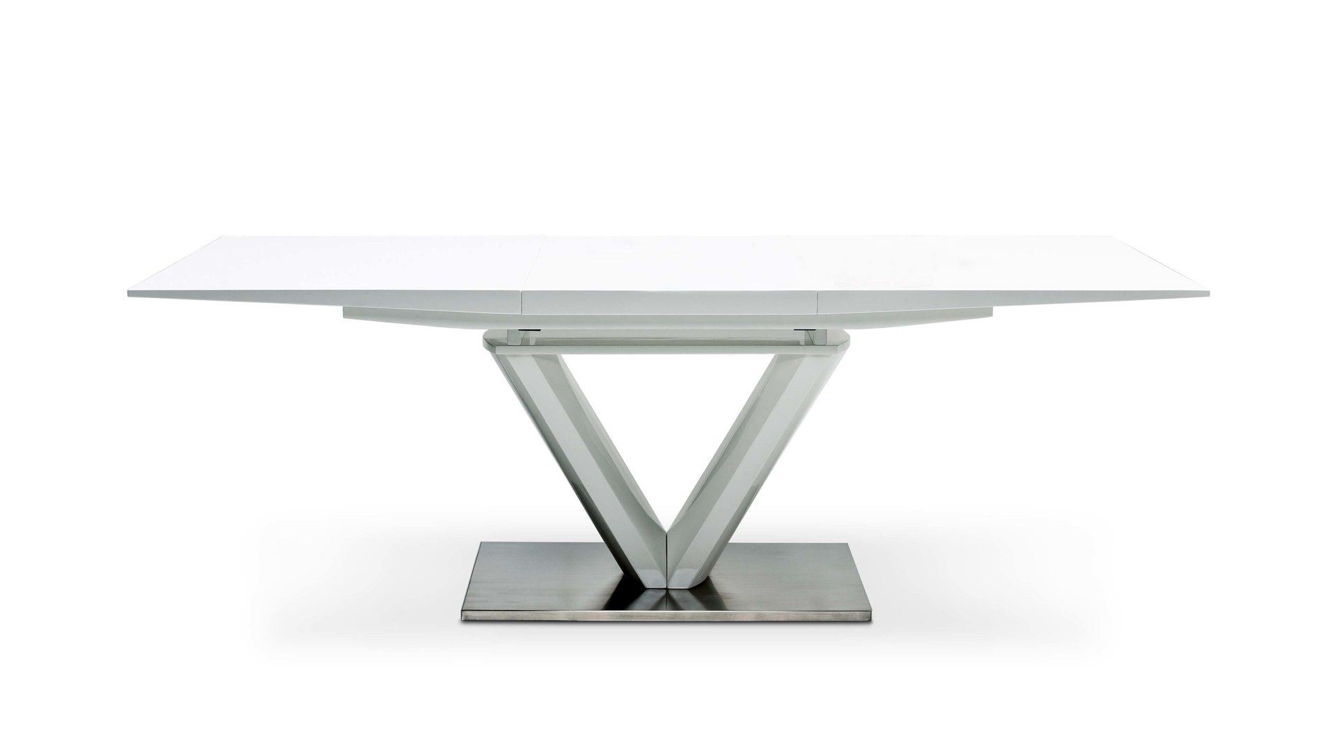 Esstisch weiß 160 ausziehbar  Möbel Bohn Crailsheim | ausziehbarer Esstisch für schönes Wohnen ...