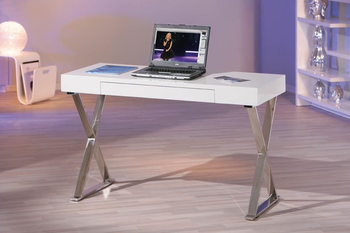 Möbel Bohn Crailsheim, Möbel A Z, Tische, Schreibtische, Schreibtisch,  Schreibtisch Grace, Ein Computertisch Fürs Büro, Weiße Hochglanzoberflächen  U0026 Chrom ...