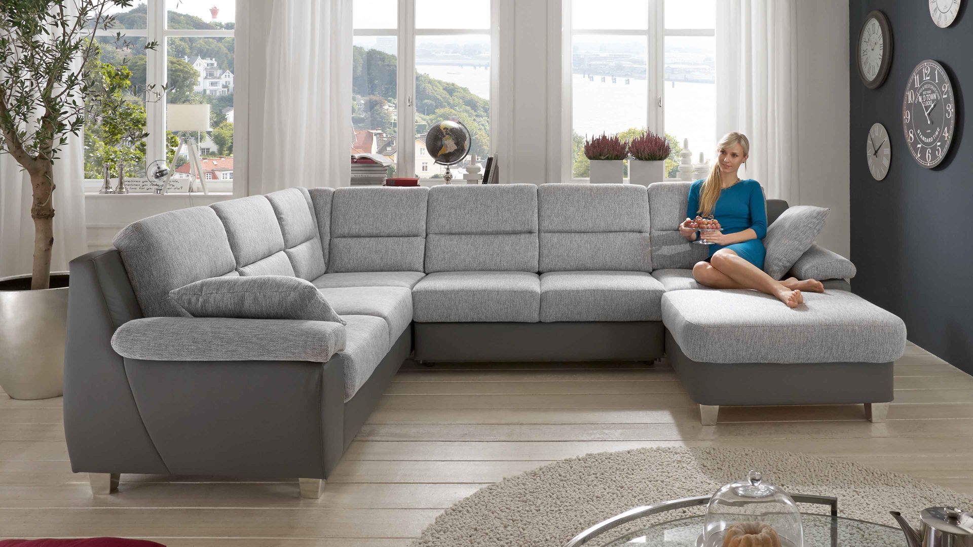 Ecksofa u form  Sofa In U Form. Gunstige Sofas In U Form Details About Ledersofa ...